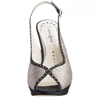 Luxury womens sandals from silver satin